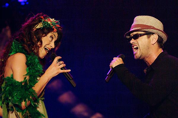Carmen París y Santiago Auserón en la Expo 2008