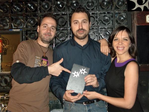 Sergio Falces, David Chapín y Beatriz Pitarch.