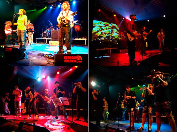 Los 4 grupos en el festival