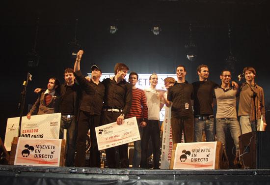 Foto de familia de los finalistas