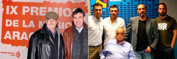 LABORDETA CON ARAGÓN MUSICAL en distintos eventos. En Aragón Suena y Los Premios de la Música Aragonesa