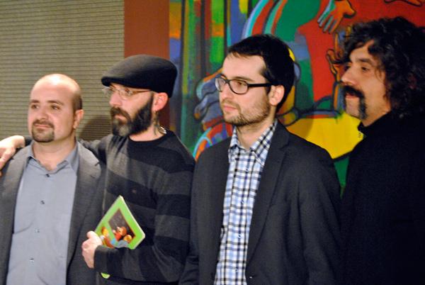 Foto de la presentación en el Espacio Ambar de Zaragoza