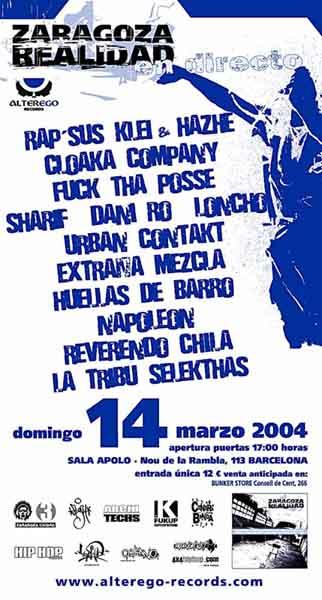 Cartel gira Zaragoza Realidad