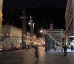 Vista de la Plaza del Pilar (no correspondiente a la zona donde se situará el Café Cantante).
