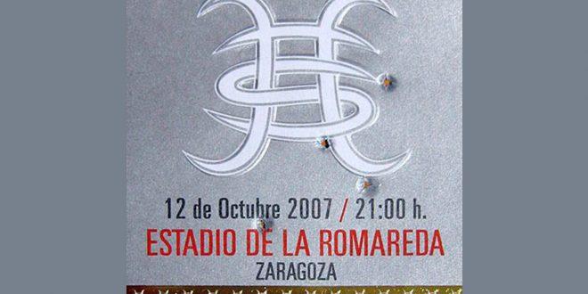 Regreso de Héroes del Silencio, Estadio de la Romareda, Zaragoza 2007