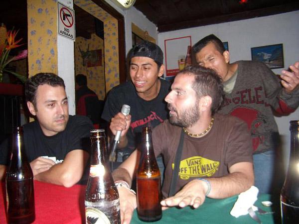 Foto de Coca, cantante de Antigua. Tour 2007