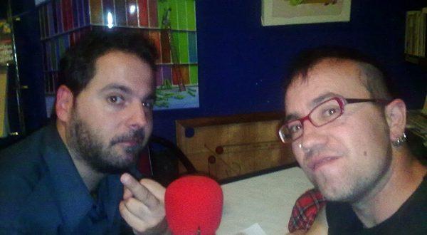 Pepe Nube junto a Sergio Falces tras grabar el podcast Diez!