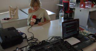 Aitana Muñoz tras grabar el Podcast Diez