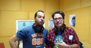 Rubén Vela con Sergio Falces tras su entrevista para el Podcast Diez!