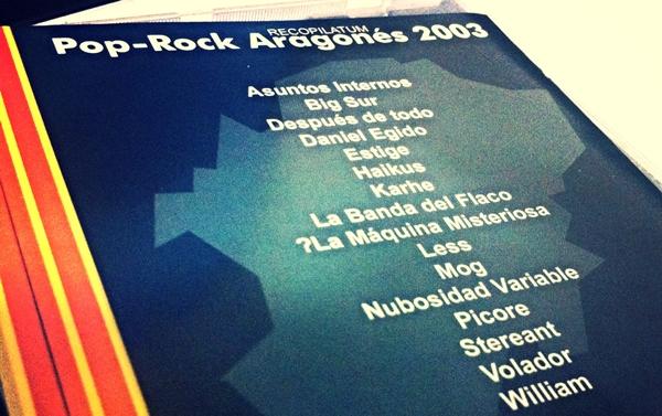 Portada: DISCO RECOPILATUM POP-ROCK ARAGONÉS 2003