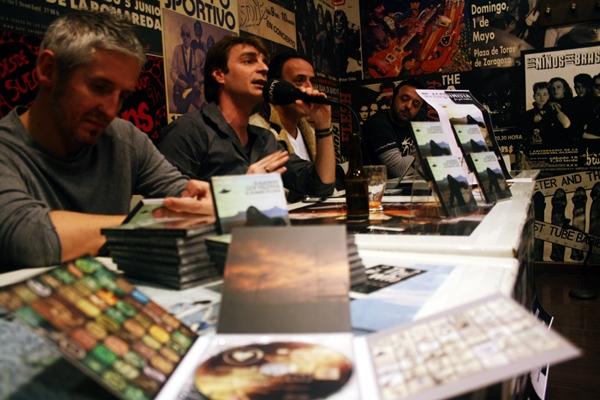 Foto: GONZALO VALDIVIA en la rueda de prensa de hoy. Por: Aragón Musical.