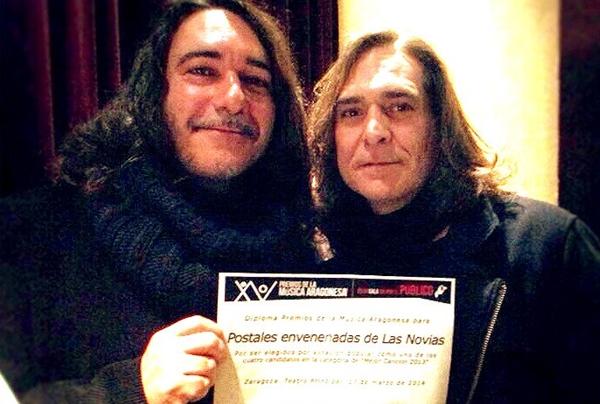Foto: LAS NOVIAS en el acto de entrega de nominaciones de los XV Premios de la Música Aragonesa