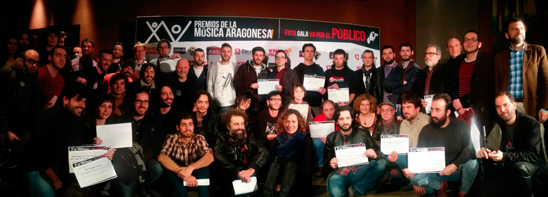 Foto de los nominados hoy en Zaragoza