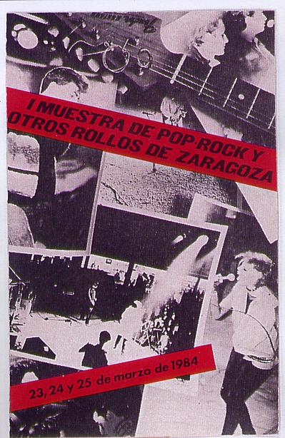 Portada de las cintas editadas con el audio de la I MUESTRA DE POP ROCK Y OTROS ROLLOS
