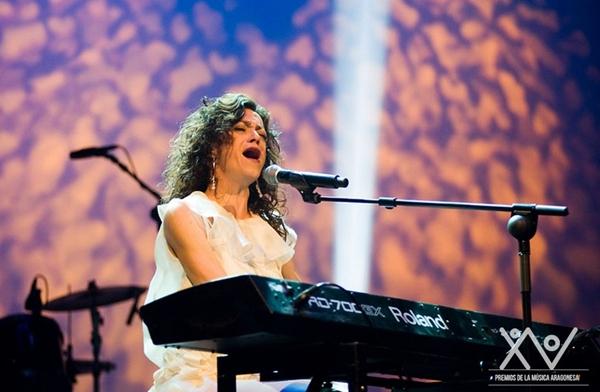 Foto: CARMEN PARÍS en los pasados Premios de la Música Aragonesa