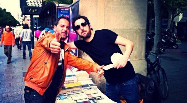 El música Sebas Puente, protagonista del Podcast Diez, con nuestro compañero Segio Falces