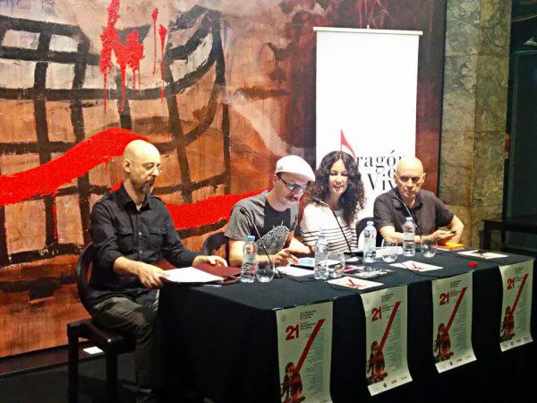 Foto: De izquierda a derecha, Chema Fernández, Tomás Gómez, María López-Insausti y Rafael Campos. Por: Aragón Musical.