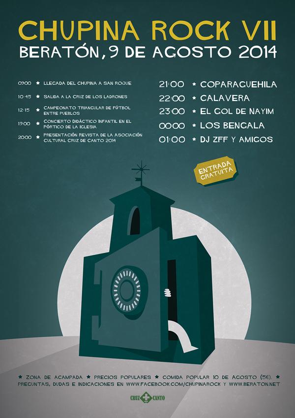 Cartel del Chupina Rock VII. Diseño: Daniel Bueno