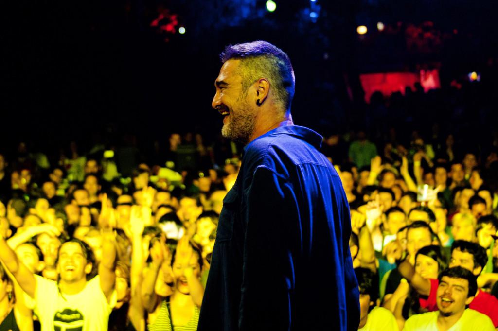 Kase.O durante la actuación de anoche en el Slap! 2014