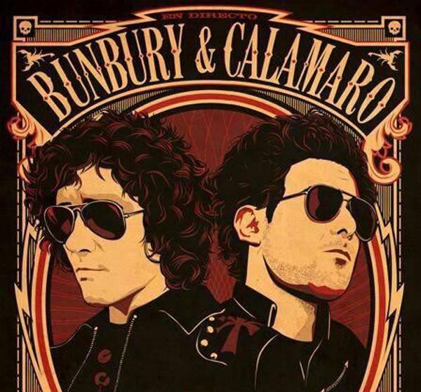 Bunbury & Calamaro. Cartel promocional de su gira
