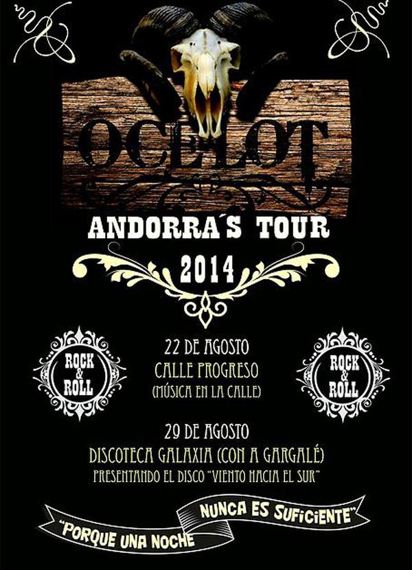 Cartel promocional de los conciertos de Ocelot