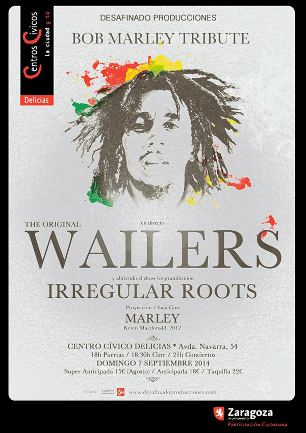 Cartel del concierto homenaje a Bob Marley