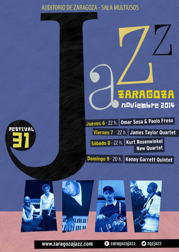 Cartel de la 31 edición del Festival de Jazz de Zaragoza