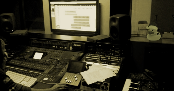 """Ducks durante el proceso de grabación de """"Last Call"""""""