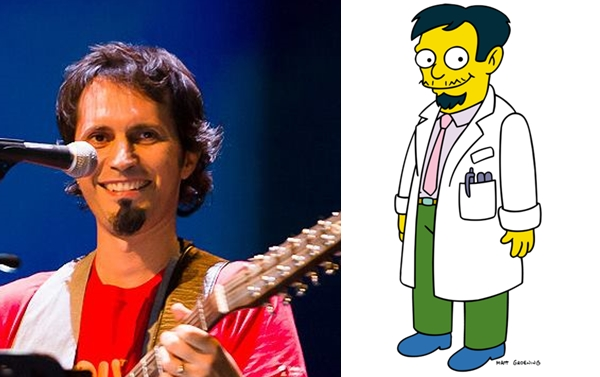 David Angulo y el doctor latino de The Simpsons
