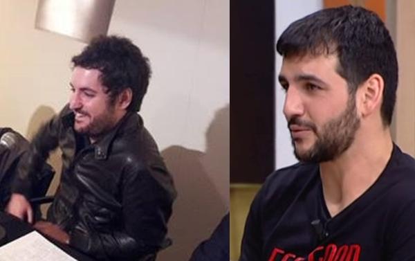 El músico Sebas Puente del grupo Tachenko y el cantautor, por decir algo, Fran Perea