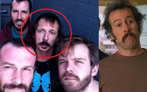 El miembro de Picore y pipa Liborio y el actor Jason Lee, protagonista de la serie Me Llamo Earl