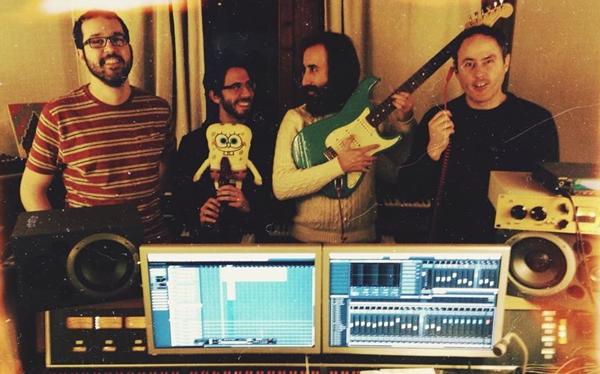 Calavera en el estudio de grabación