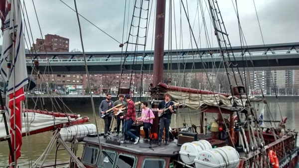 The Bärds tocando en el Atyla Ship de Bilbao en febrero de 2015.
