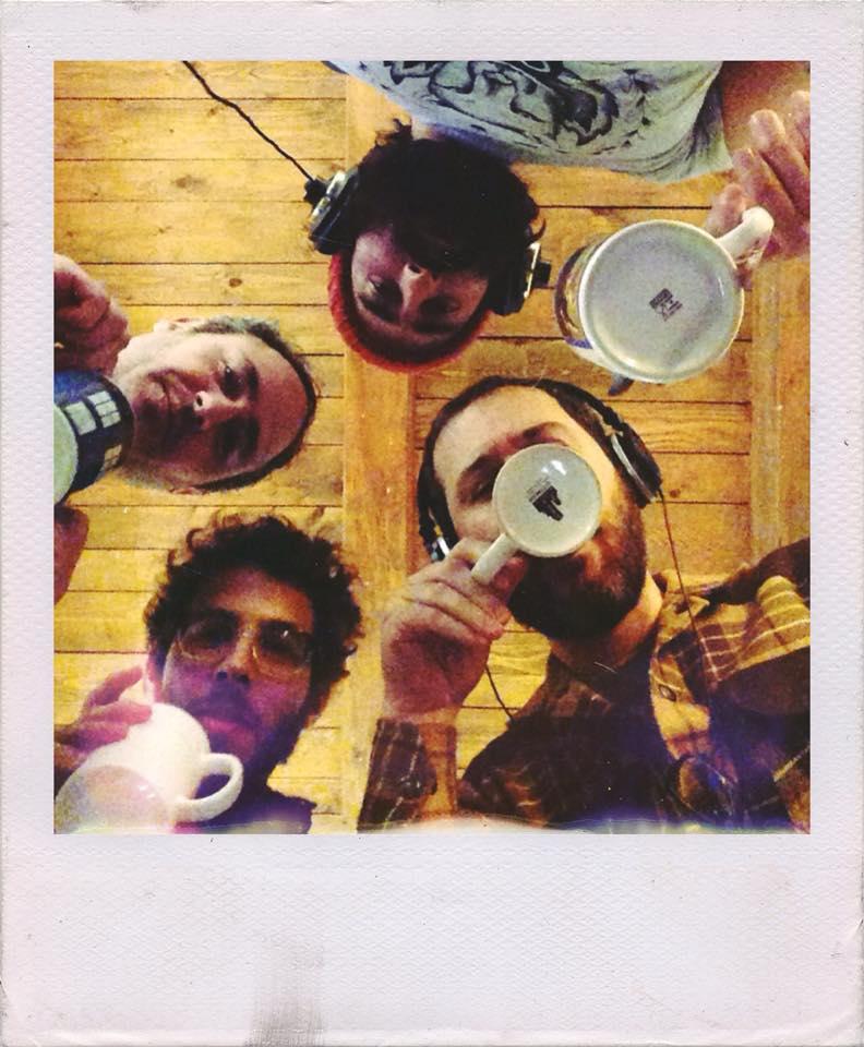 Foto de Calavera, durante la grabación del disco.