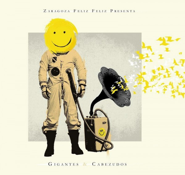 "Portada del disco ""Gigantes & Cabezudos"" de Zaragoza Feliz Feliz"