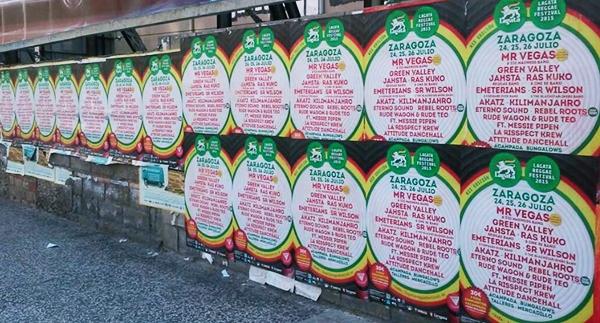 Carteles del 11º festival Lagatavajunto Reggae Festival del Camping de Zaragoza