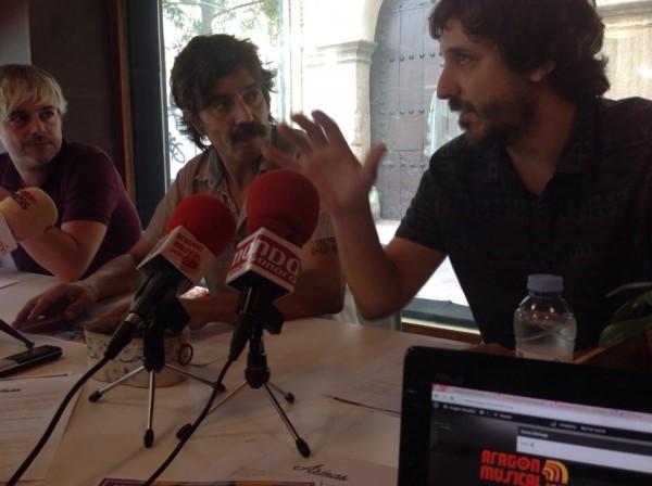 Ángel Puyuelo, Sergio Vinadé, y Víctor Domínguez. Por: Aragón Musical.