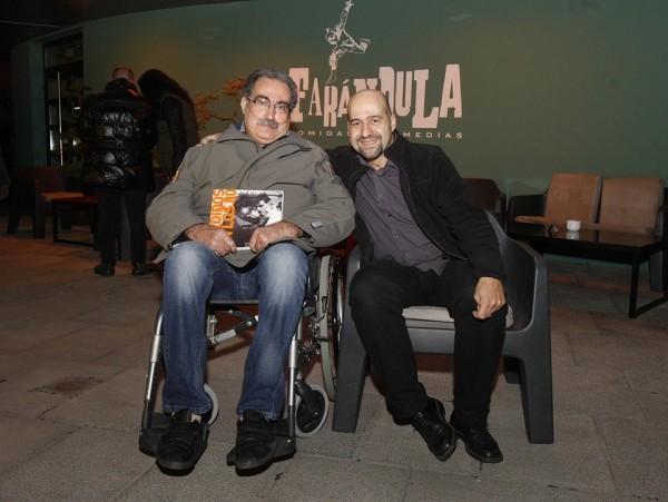 De izquierda a derecha: Antonio Tenas y Javier Cebollada. Diciembre de 2014.