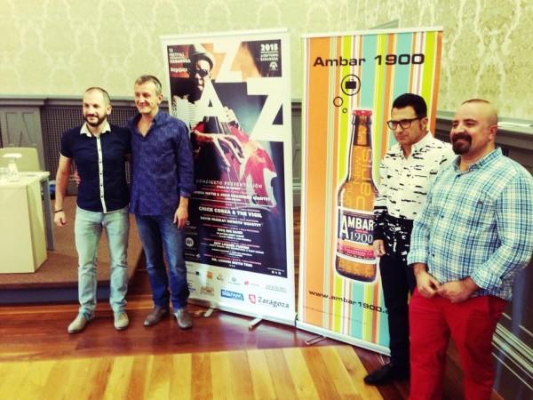 De izquierda a derecha: Miguel Ángel Tapia, Fernando Rivarés, Jaime Borobia, y javier Pomar. Por: Aragón Musical.