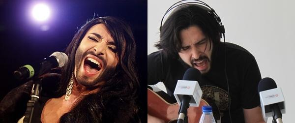 Alejandro Castro cuando le roba los vestidos a su novia y se presenta a Eurovisión se hace llamar Conchita Wurst