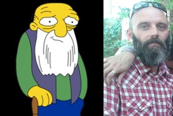 Rafa Angulo es el viejete de The Simpsons