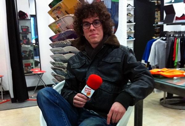 Borja Téllez tras grabar el podcast 10 para Aragón Musical en febrero de 2013.
