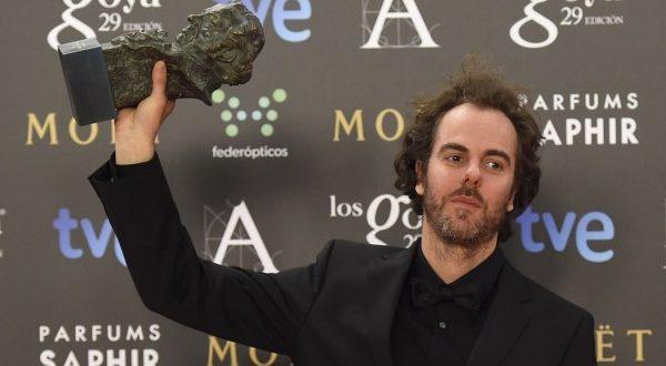 Julio de la Rosa tras recoger su Premo Goya a Premio Goya 2015 a la Mejor Música Original por 'La isla mínima' (2015).