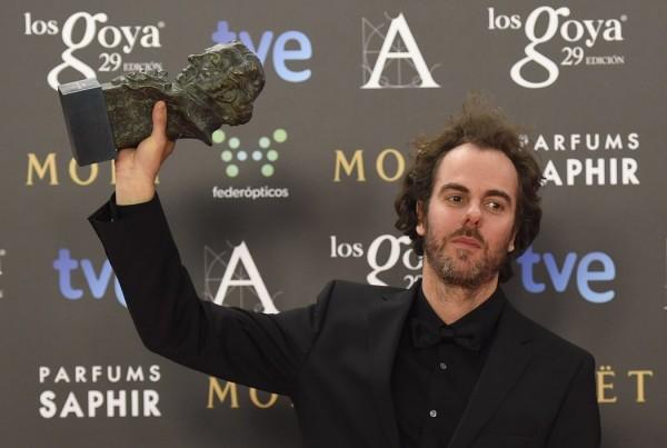 Julio de la Rosa tras recoger su Premo Goya a Premio Goya 2015 a la Mejor Música Original por'La isla mínima' (2015).
