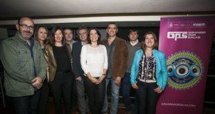 Girando por Salas (GPS). Imagen de Dª. Montserrat Iglesias, Directora General del INAEM y representantes de La Federación Coordinadora del Circuito de Músicas Populares.