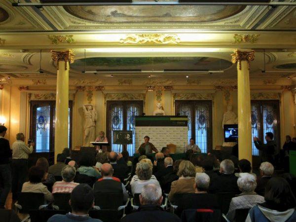 Ahora durante la presentación del disco'Labordeta inétido. En el Jardín de la Memoria' de José Antonio Labordeta