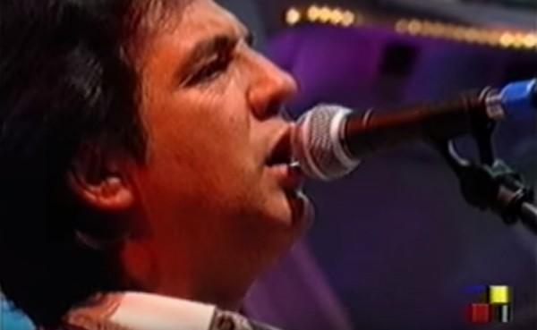Manolo Tena a su paso por el programa'Que vieje el lobo' de Antena Aragón en 1994