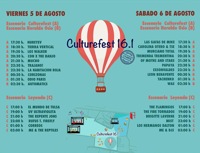 CultureFest 2016 - Horarios
