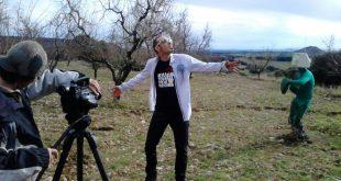 Tritón Jiménez durante el rodaje del videoclip 'Tiempos Modernos'