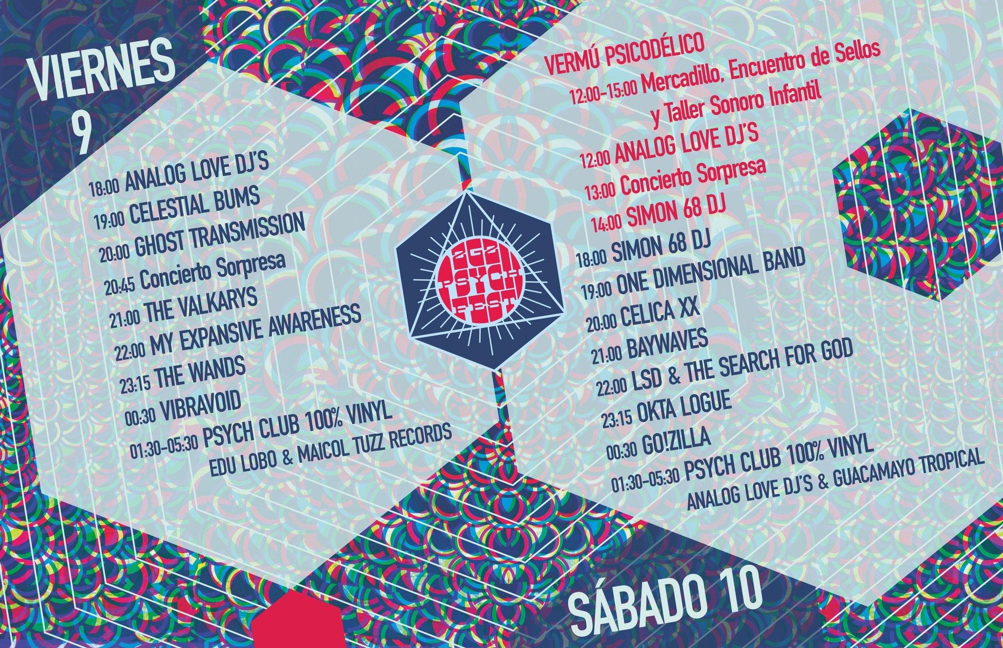 Horarios Psych Fest 2016